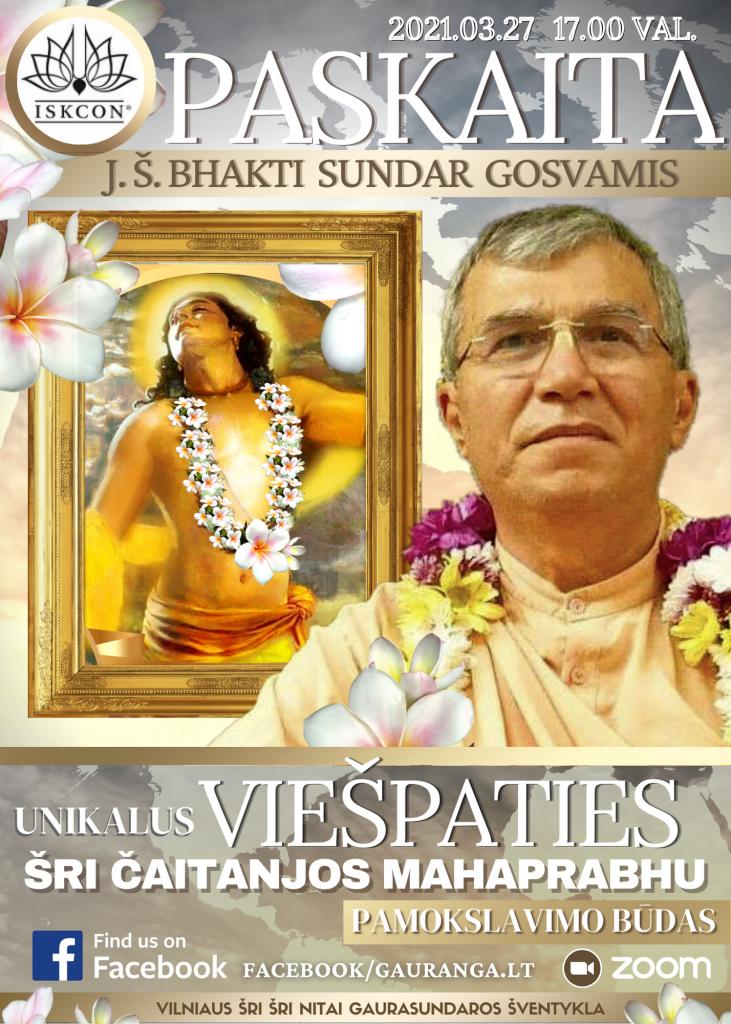 20210327 Paskaita Bhakti Sundar Gosvamis