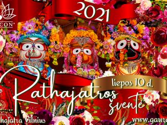 Vilnius Rathajatros šventė 2021 Vilniaus Šri Šri Nitai Gaurasundaros Šventykla Jaganatha Balarama Subhadra